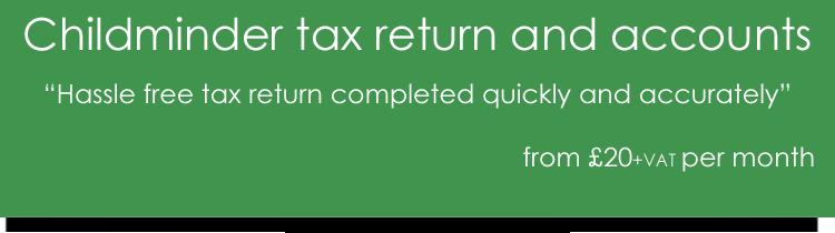 Childminder tax return
